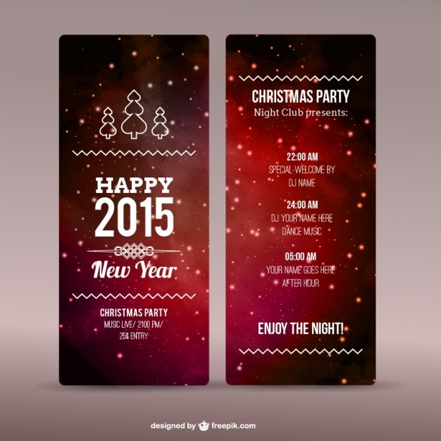 Christmas party flyer template Vector | Free Download