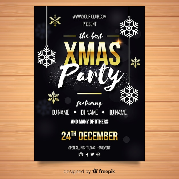 Template for xmas party ~ flyer templates ~ creative market.