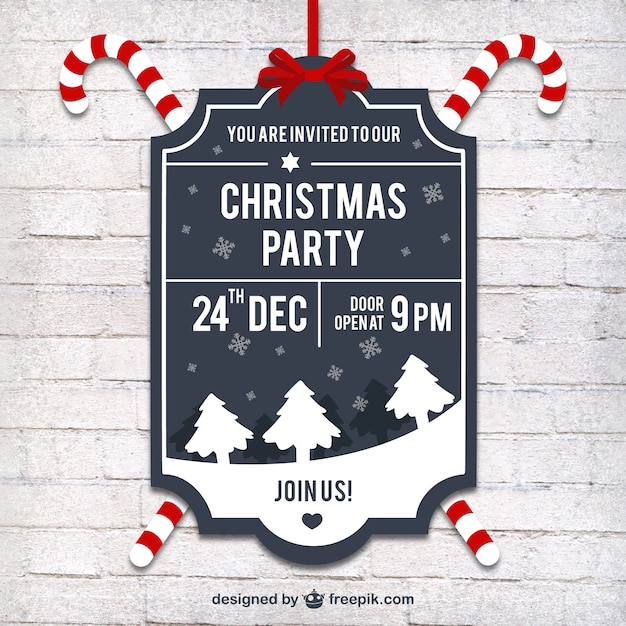 Christmas party label in retro style vector free download christmas party label in retro style free vector stopboris Gallery