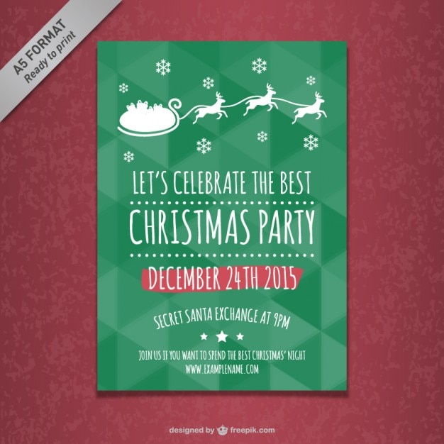 Christmas Party Poster Template Vector | Free Download