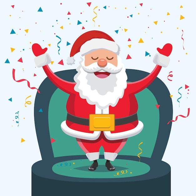 Christmas Party Time Images.Christmas Party Time With Santa Claus Vector Premium Download