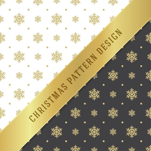 包装紙のクリスマスパターンの背景デザイン Premiumベクター