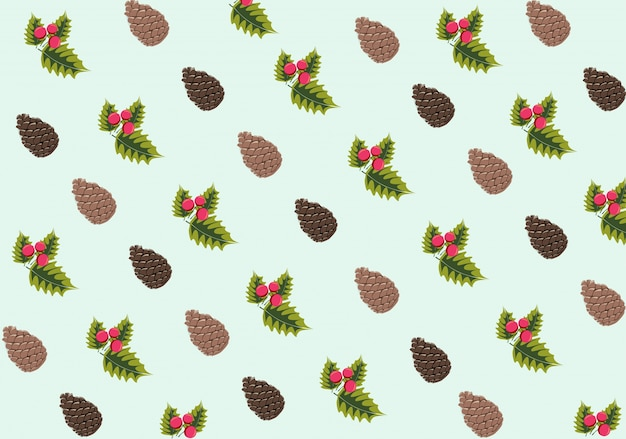Christmas pattern background Free Vector
