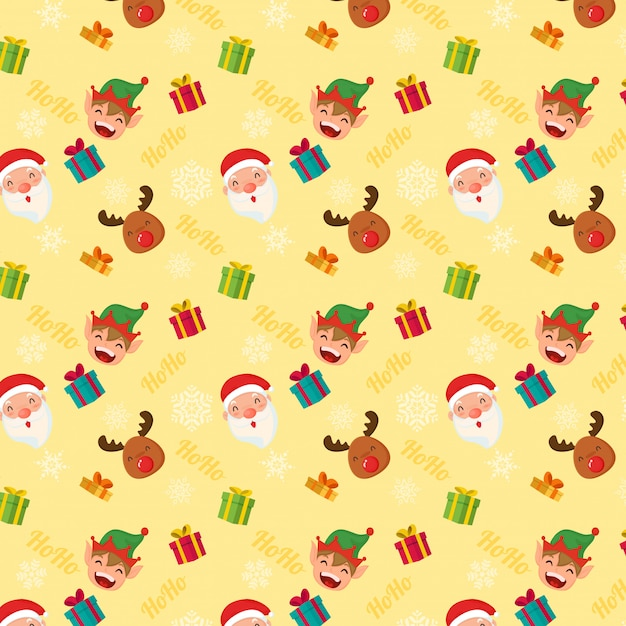 Christmas pattern Premium Vector