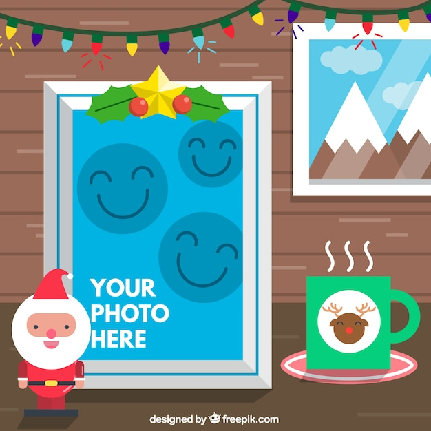 christmas photo frame templates template multilingual with frame