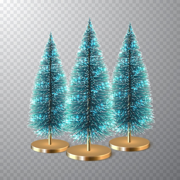 クリスマスの松の木または円錐形の松。クリスマスの装飾。 Premiumベクター