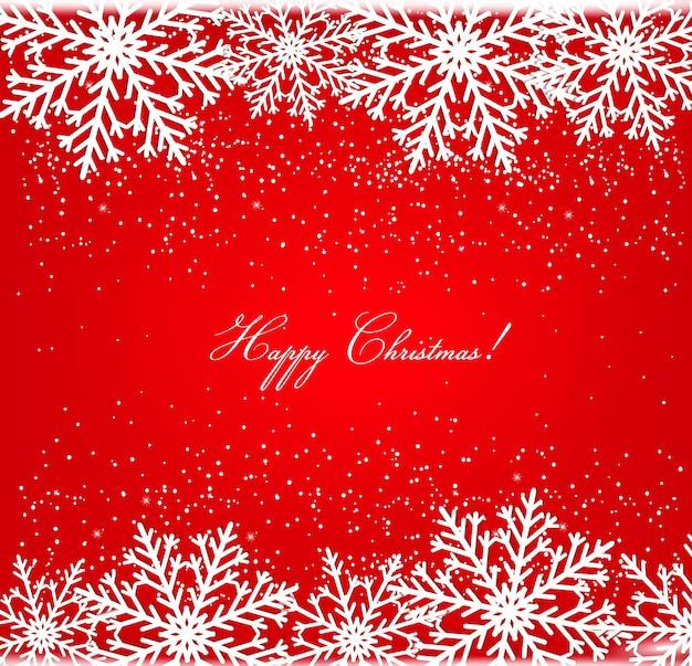 Christmas postcard with snowflakes. Premium Vector