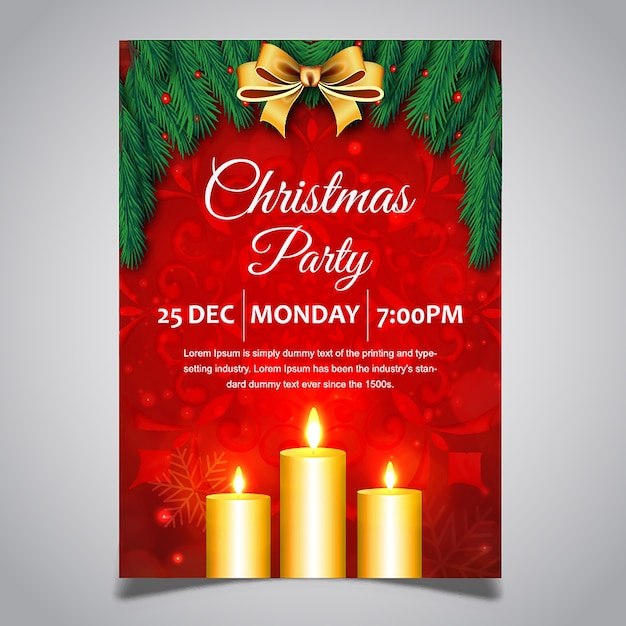christmas posters designs vector free download