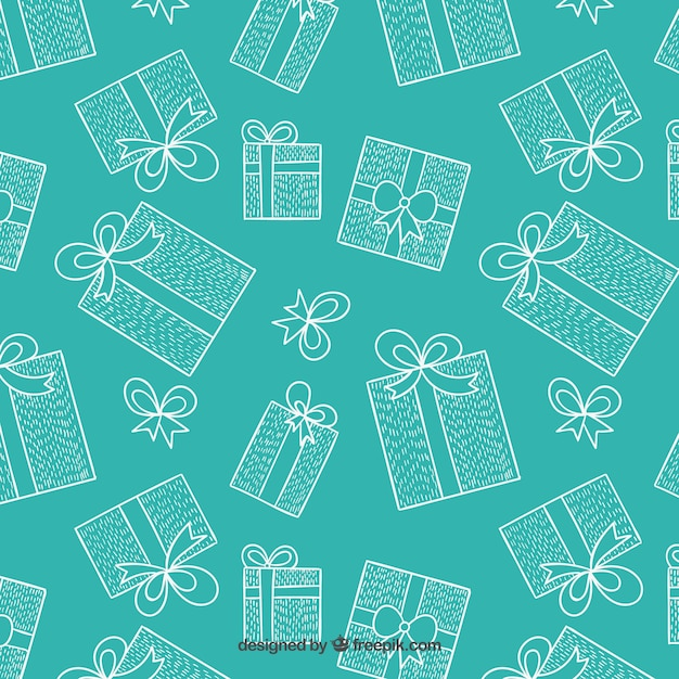 Christmas presents pattern Free Vector