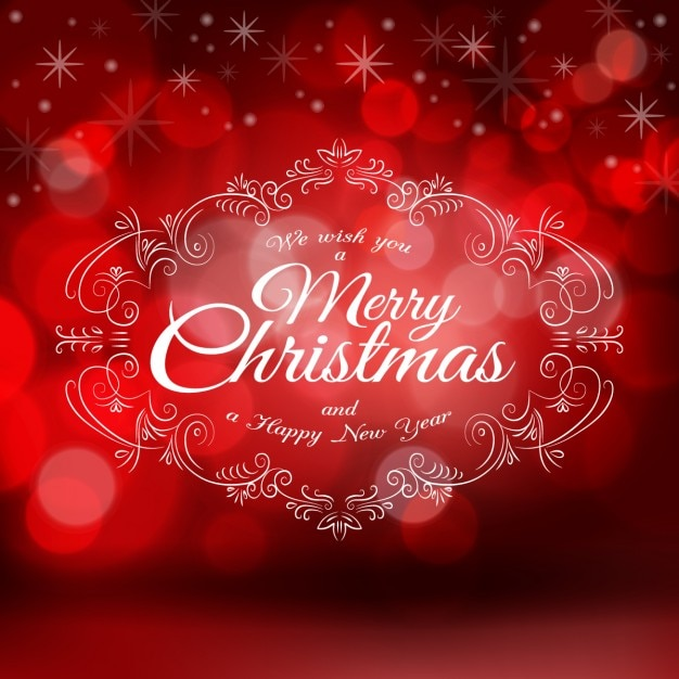 christmas red background with ornaments vector free download