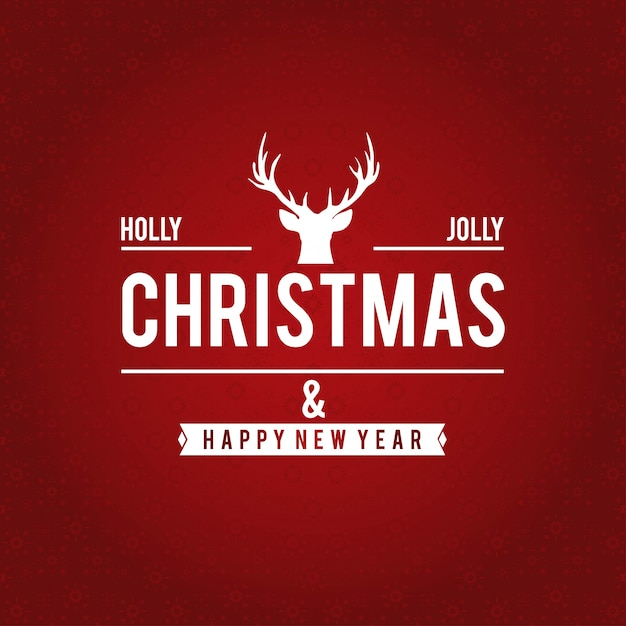 Christmas red background Free Vector