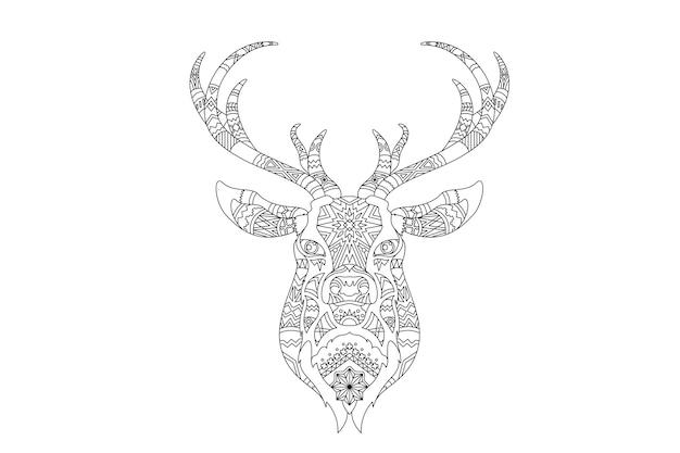 Christmas reindeer vector Free Vector