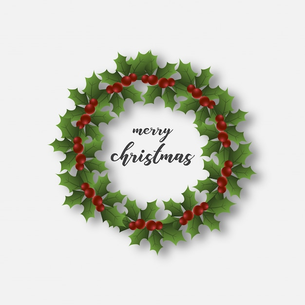 Christmas Ring.Christmas Ring Greetings With Text Vector Premium Download