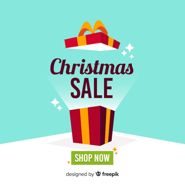 Christmas sale background Free Vector