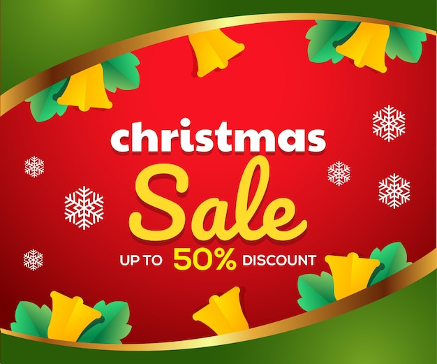 クリスマスセールバナーテンプレート Premiumベクター