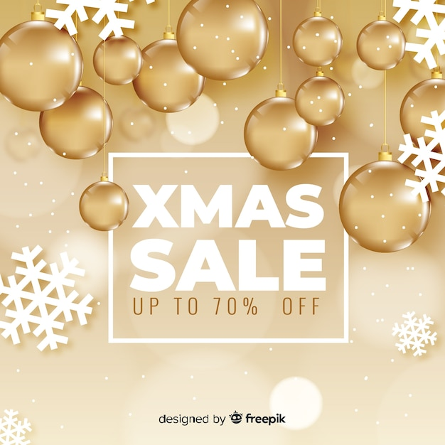Christmas sale banner Free Vector