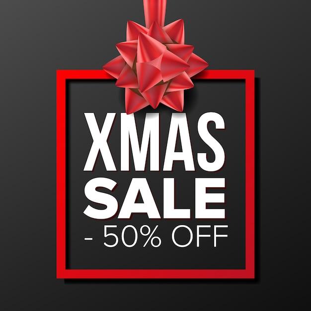 Christmas sale banner Premium Vector