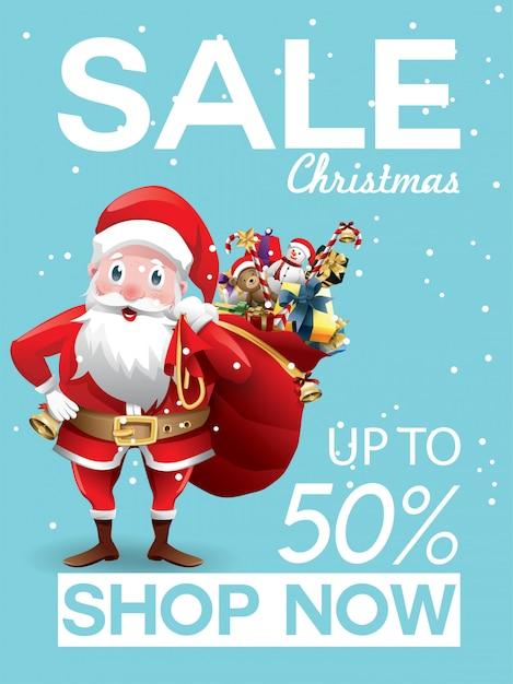 Christmas sale discount offer Premium Vector