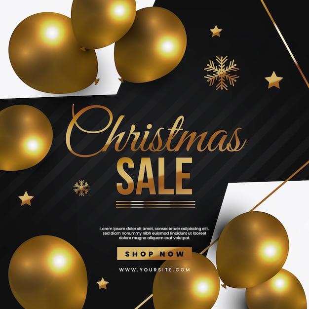 Christmas sale shop now Free Vector