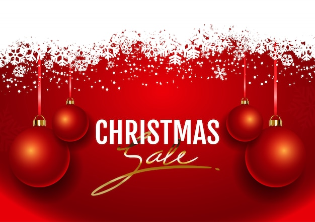 Christmas sale Free Vector