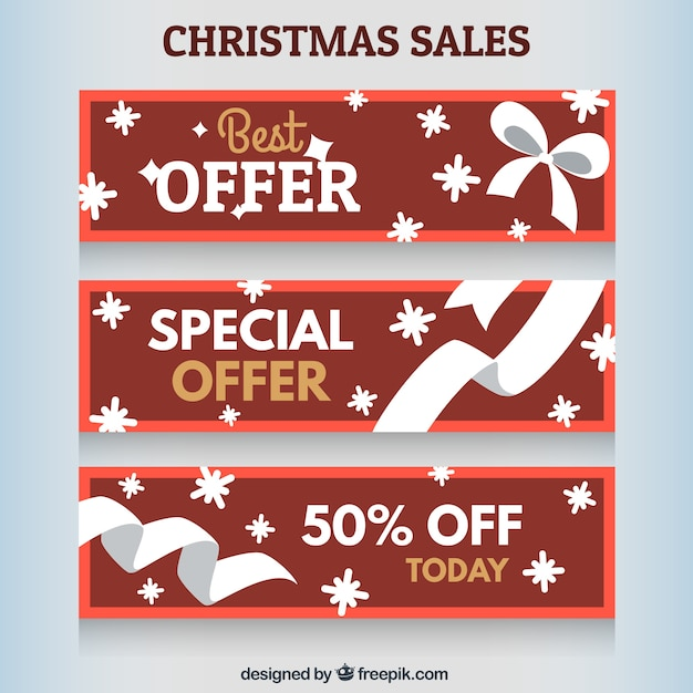 Winter Sale Banners Typography Banners