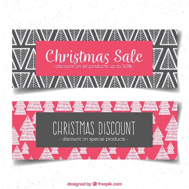 Christmas sales banners