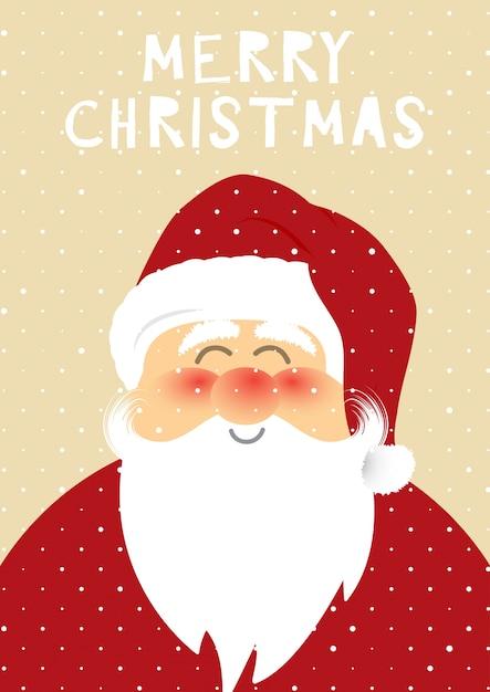 christmas santa background vector free download