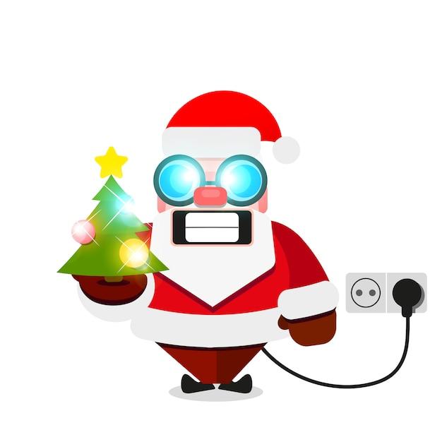Christmas santa claus electric Premium Vector