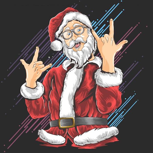 Christmas santa claus Premium Vector