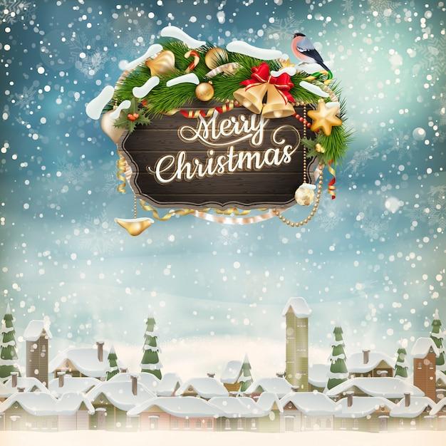 クリスマスシーン。 Premiumベクター