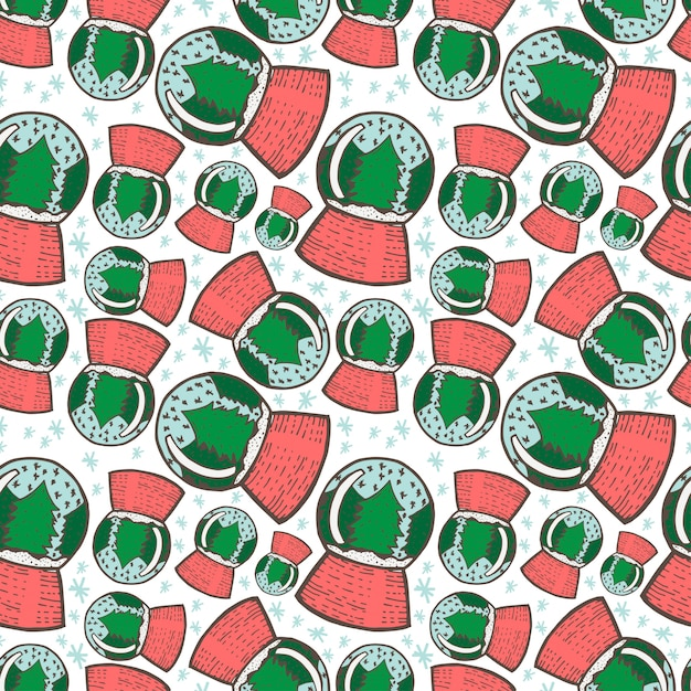 Christmas seamless pattern. hand drawn doodle sketch Premium Vector