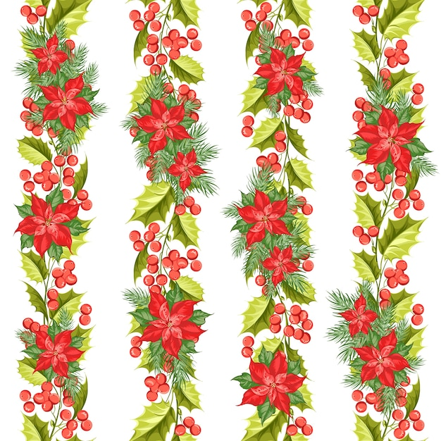 Natale seamless pattern. vischio su sfondo bianco. Vettore gratuito