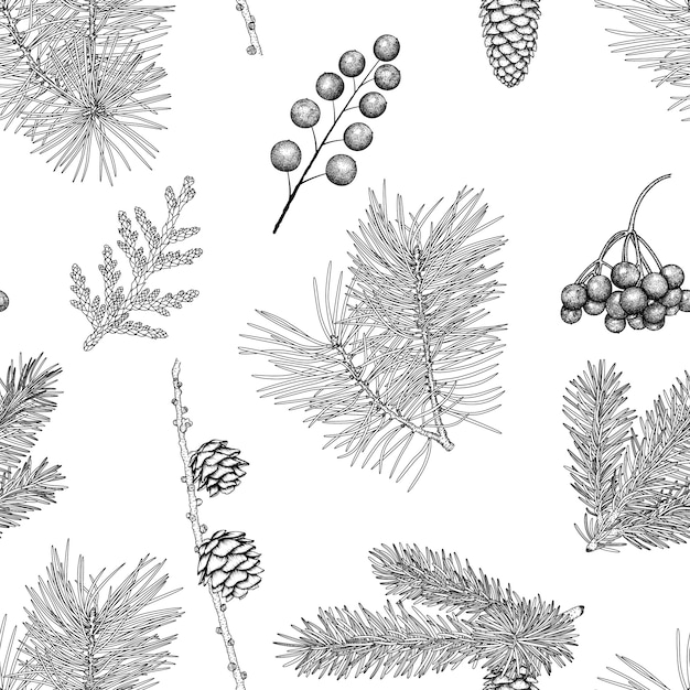 Christmas seamless pattern. Premium Vector
