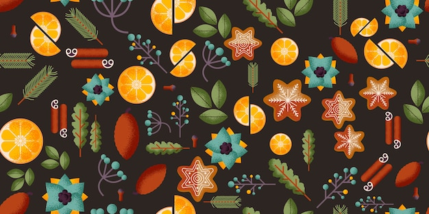 Christmas seamless pattern Premium Vector