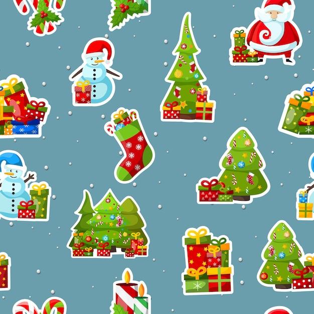 クリスマスのシームレスなパターン 無料ベクター