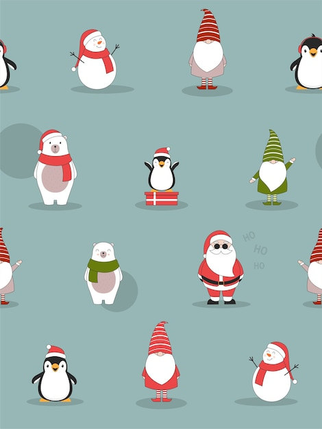 Christmas seamless pattern. Free Vector