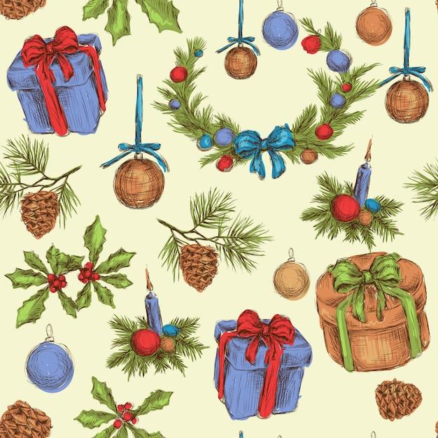 Christmas seamless pattern Premium Vector