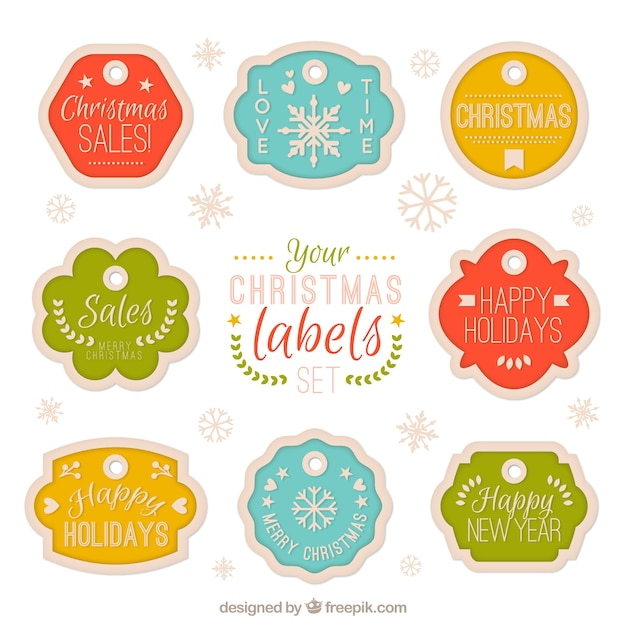 Christmas season labels