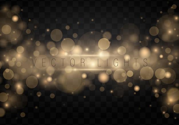 Christmas. shining bokeh on transparent background. Premium Vector