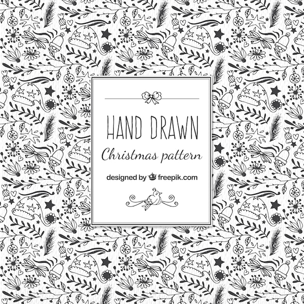 Christmas Sketches.Christmas Sketches Pattern Vector Free Download