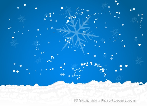 Christmas sky with snow background