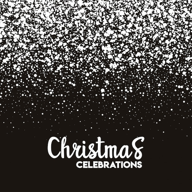 Christmas snow pattern background Free Vector