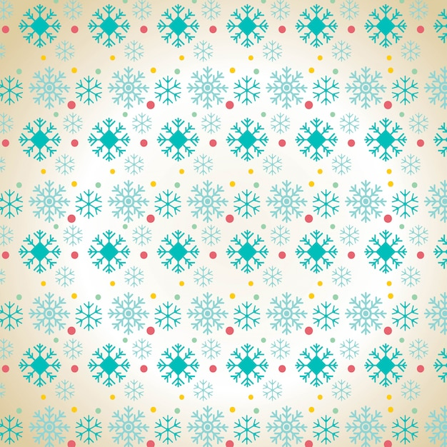 Christmas snowflake pattern background Free Vector