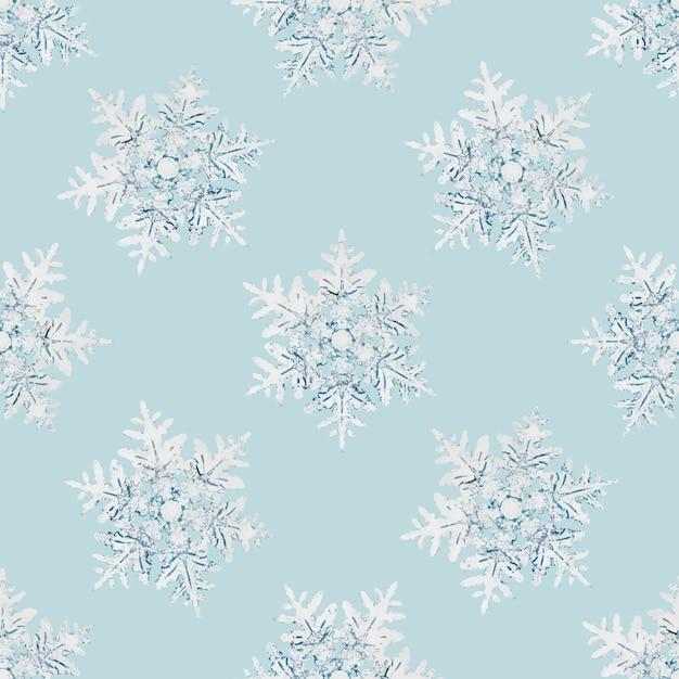 Рождественские снежинки бесшовные модели Бесплатные векторы