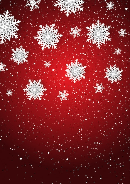 Christmas snowflakes background Free Vector