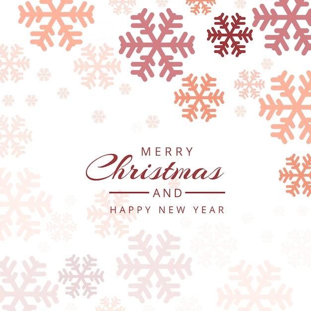 Christmas snowflakes decorative colorful background vector Free Vector