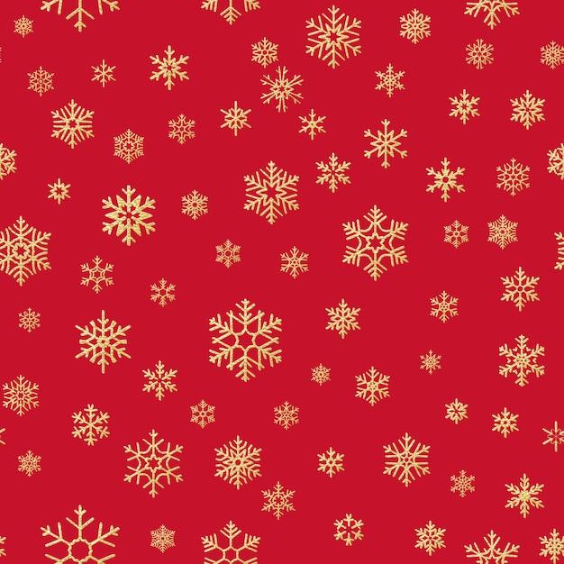 クリスマス雪の結晶のシームレスな繰り返しパターンの背景。 Premiumベクター