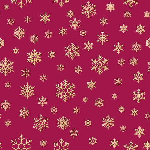 크리스마스 눈송이 원활한 반복 패턴 배경. 프리미엄 벡터