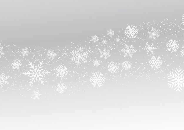 Christmas snowflakes Free Vector