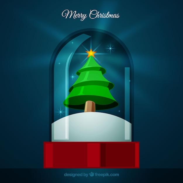 Christmas snowglobe of christmas tree
